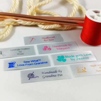 Custom Satin Sewing Labels