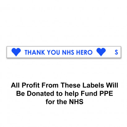 Thank You NHS Hero Woven Labels