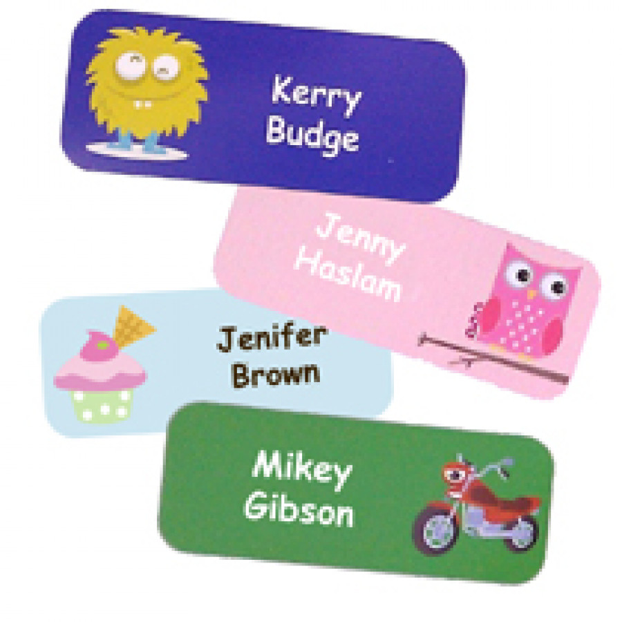 Super fun name stickers woven labels uk