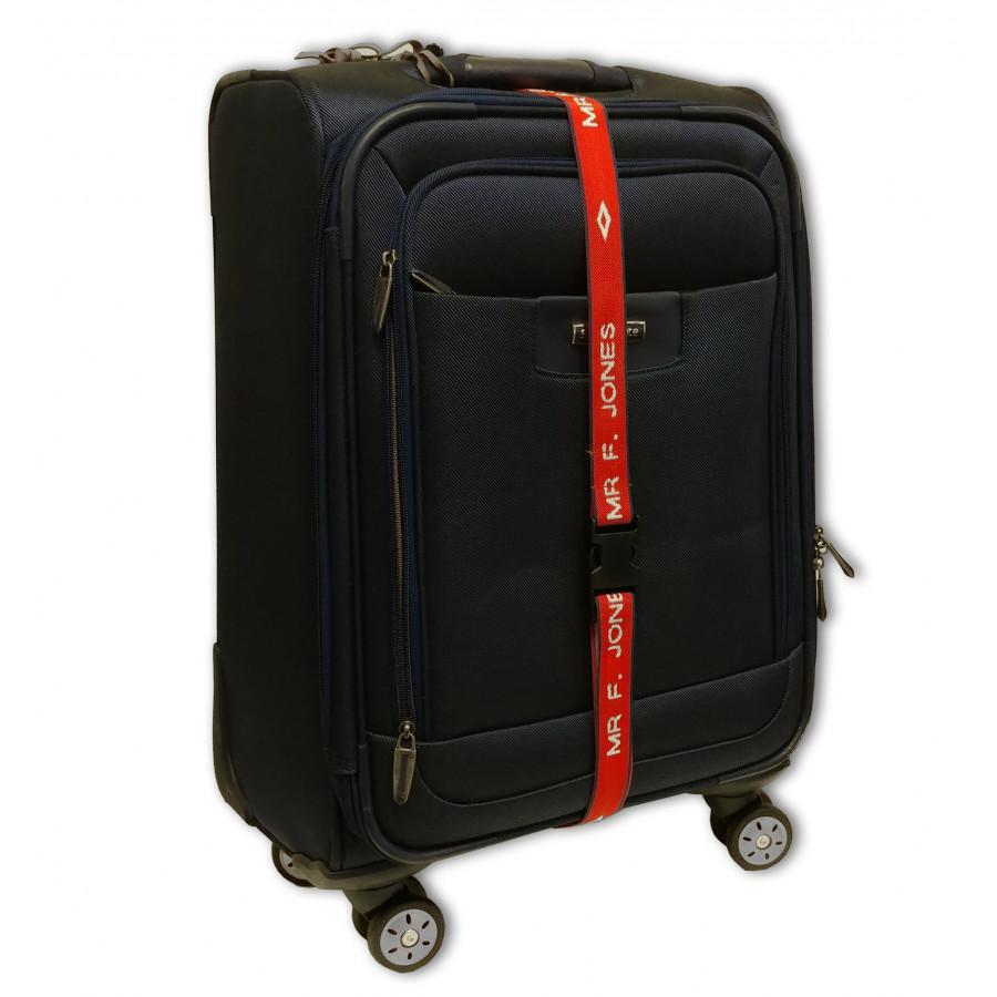 Personalised luggage strap zoom