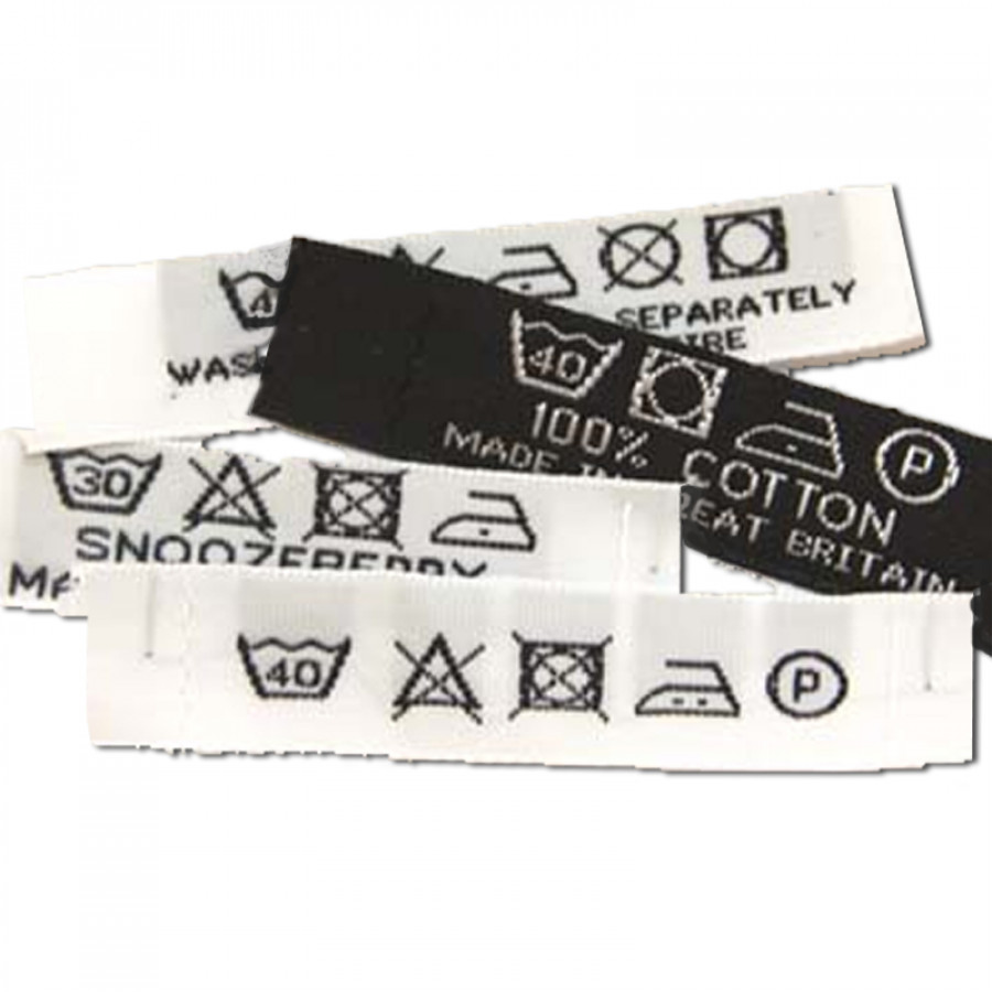 Woven wash care labels woven labels uk woven wash care labels zoom biocorpaavc Choice Image