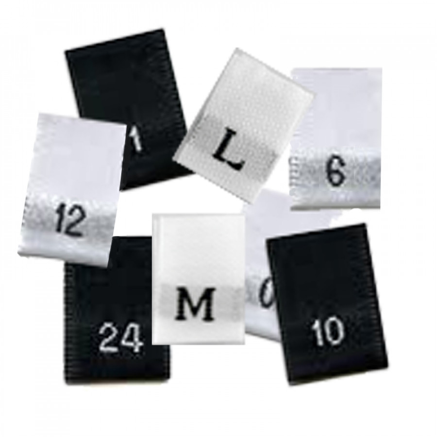 100 Clothing Garment Sizes Woven Labels L M//L etc S M