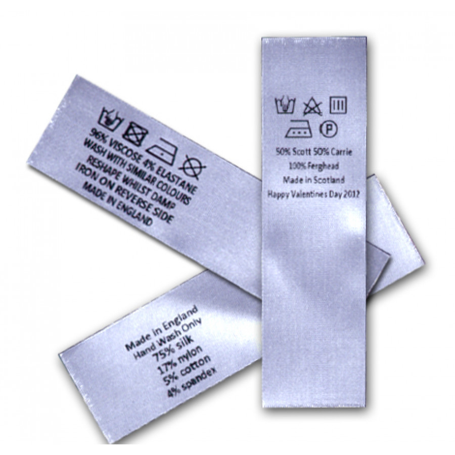 cotton care instructions label